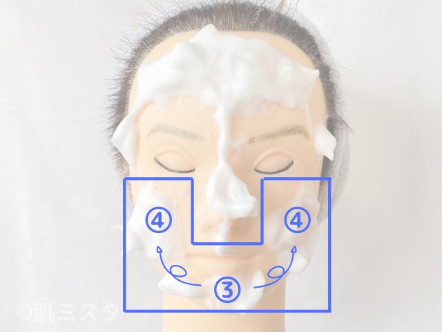 洗顔の細かい順番(Uゾーン)