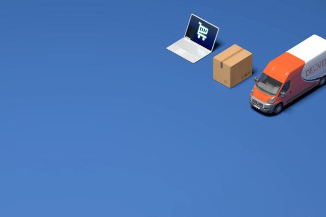 インターネット販売と宅配トラック