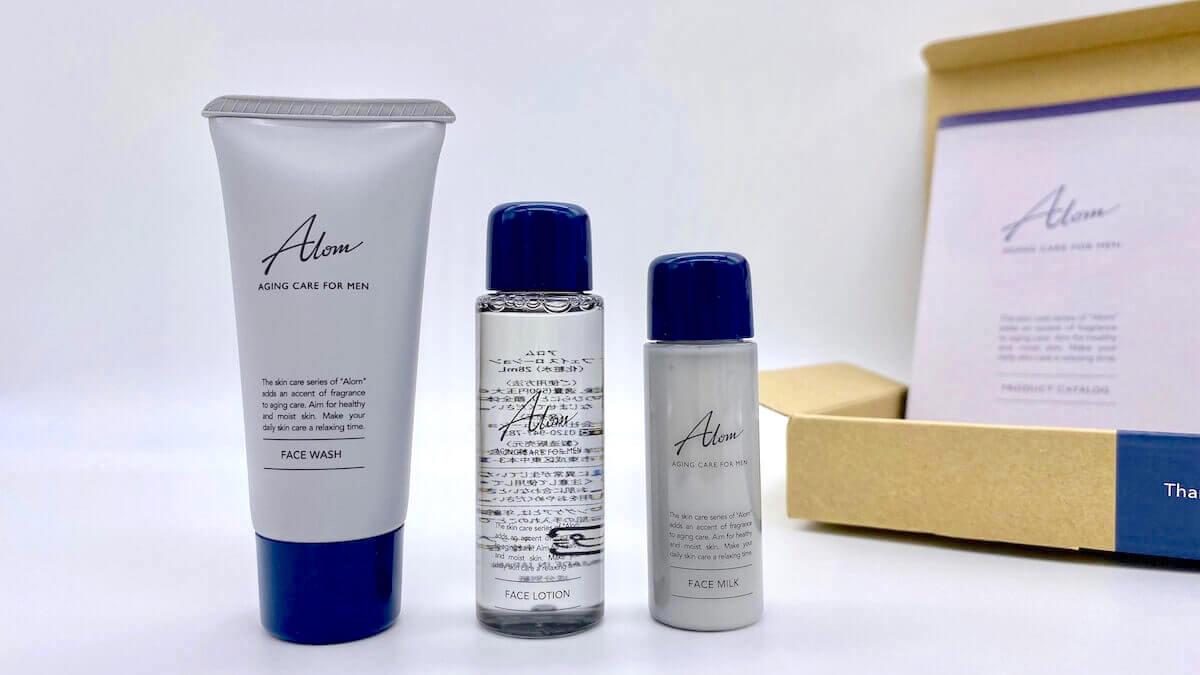 Alomの洗顔料・化粧水・乳液