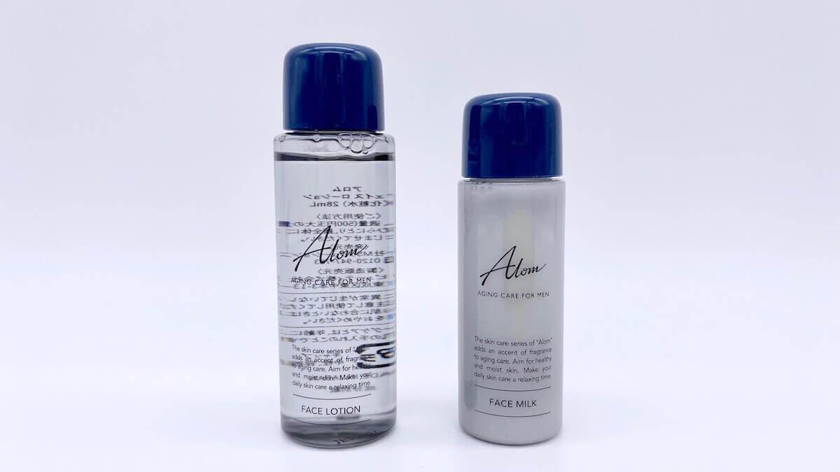 Alomの化粧水と乳液