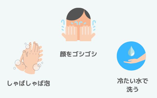 男子高校生がしがちな間違った洗顔のやり方