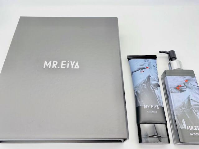 MR.EiYAの箱と洗顔料・オールインワンゲル