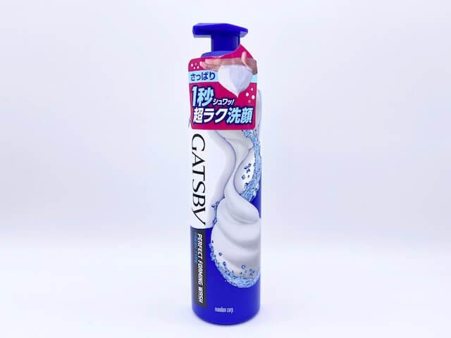 ギャツビーの「パーフェクト泡洗顔 さっぱりタイプ」(スプレータイプの青色)