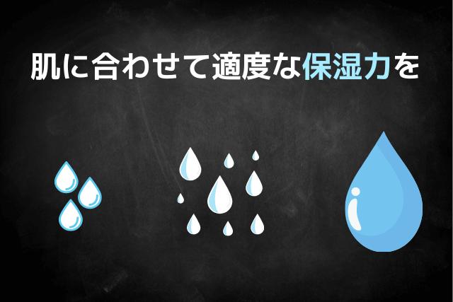 肌に合わせて適度な保湿力の化粧水を選ぼう