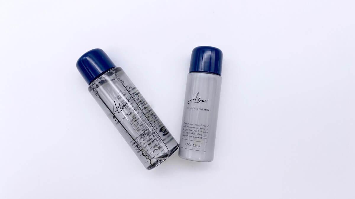 倒れたAlomの化粧水と乳液
